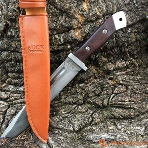 Изключителен ловен нож BUSK USA DESIGN 2008, с канал и кания за колан