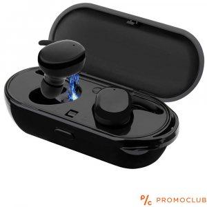 Безжични ТОП слушалки TWS-04 BLACK, зареждаща кутия, черни