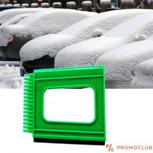 Многофункционална MINI 5172 стъргалка 3 в 1 и с гума за подсушаване на огледалата- зелена