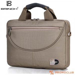 Бизнес чанта BRINCH COMPACT GREY 3445, с противоударно отделение за лаптоп и таблет