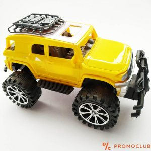 Детски жълт джип SUPER RACING, 23 см