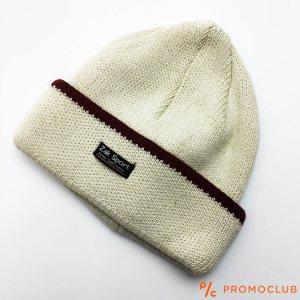 Зимна мъжка шапка ZAK SPORT, дебела и топла, 50% вълна, СВЕТЛО БЕЖОВА