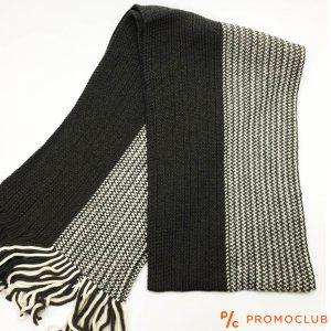 Мъжки зимен шал ZAG WINTER  BLACK-WHITE ИН-ЯН