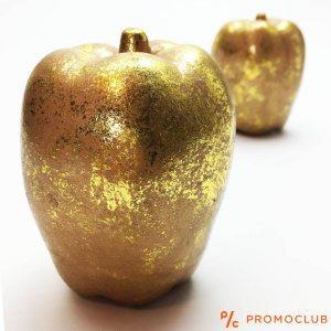 Винтидж украса златна керамична ябълка