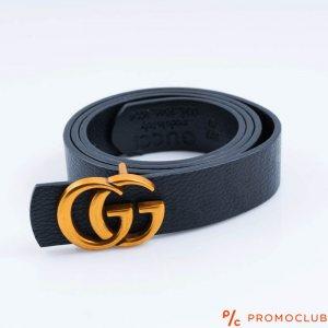 Колан GUCCI- черен със златно лого