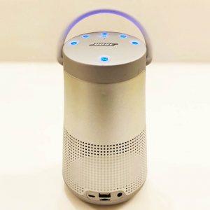 Голяма блутудна MP3 HiFi аудио система BOSE REVOLVE+ SILVER, висок клас реплика