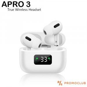 Нов модел безжични слушалки  APRO 3 WHITE, TRUE WIRELESS HEADSET