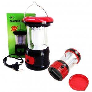 Мощна презареждаща се къмпинг LED лампа с вградени батерии зареждане солар / 220V RY-T97/8