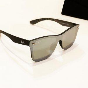 Слънчеви очила RAY BAN RB4388N GREY 601S/6G, с ПОДАРЪК спортен кожен калъф MARC JOHN