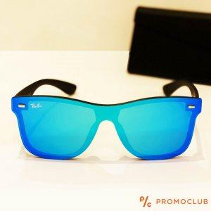 Слънчеви очила RAY BAN RB4388N BLUE 601S/55, с ПОДАРЪК спортен кожен калъф MARC JOHN