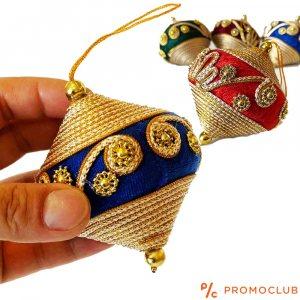 Четири луксозни КОЛЕДНИ пумпали, текстилни апликации в ориенталски стил, КЛАСА и СТИЛ