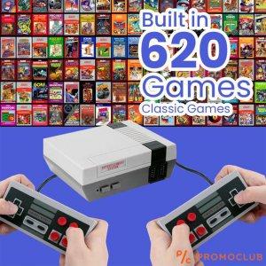 620 видео игри в 1 - телевизионна  игрална конзола с адва джойстика MINI GAME 620 BUILT-IN