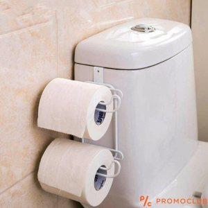Двойна закачаща се поставка за тоалетна хартия, кърпи и др.