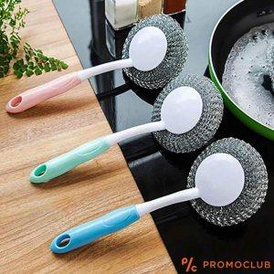 Три телчета за миене на чинии с дръжка, без страх от загорели съдове