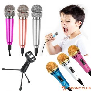 Компактен метален микрофон със стойка за бюро DT308