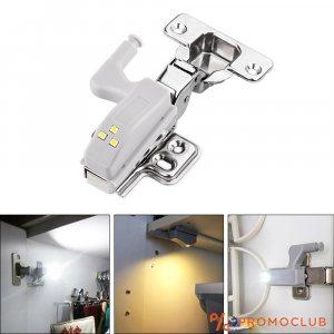 Две LED лампи за панти, гардероби, шкафове HINGE LIGHT, светват при отваряне, бърз монтаж