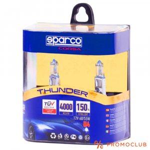2 Броя SPARCO THUNDER Авто Крушки H1 12V 55W 4000K