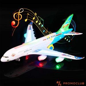 Голям самолет А380 играчка, моторизуран, движи се със звука на реалния самолет