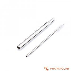 ЛУКС И ЕКО: Телескопична метална сламка за многократна употреба с четка за почистване