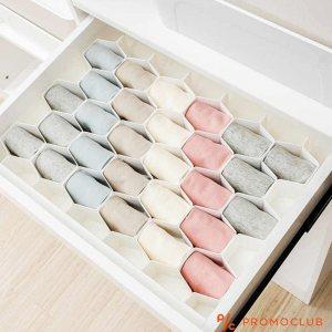 Универсален сглобяем органайзер за шкафове с дълбочина с 8 шестоъгълни разделения, 6,5 см