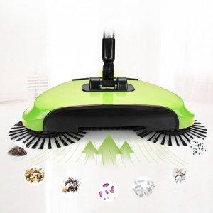 Мултифункционален безжичен почистващ уред Spin Sweeper Genie, 360° въртене на четките, тих