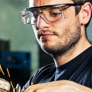 Предпазни работни очила, пластмаса