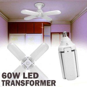 Най-мощната LED крушка TRANSFORMER 5X,  60W, 6500К студена бяла светлина
