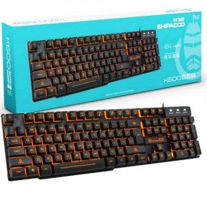 Грймърска клавиатура Shipadoo K600 с водоустойчив дизайн и подсветка, два цвята