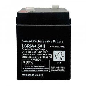 Мощна зареждаема батерия LCR 6V 4.5Ah, запечатана