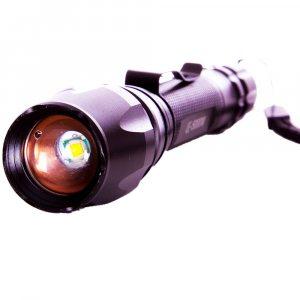 Тактически мощен немски метален LED полицейски фенер X-BAL BL-8668, с акумулаторни батерии