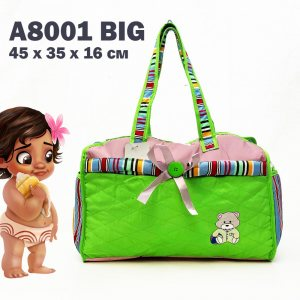 Лека бебешка чанта GREEN за пелени, дрехи и аксесоари с ПОДАРЪК подложка за преповиване