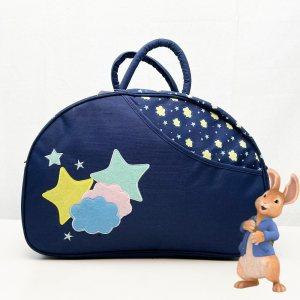 Красива полутвърда бебешка чанта TIME2PLAY 361 С ПОДАРЪК подложка за преповиване DARKBLUE
