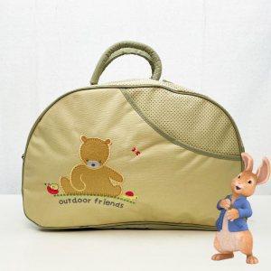 Красива полутвърда бебешка чанта TIME2PLAY 361 С ПОДАРЪК подложка за преповиване GOLD