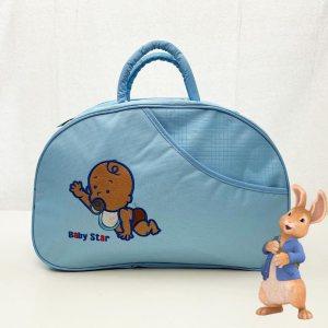 Красива полутвърда бебешка чанта TIME2PLAY 361 С ПОДАРЪК подложка за преповиване LIGHTBLUE