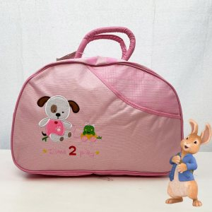 Красива полутвърда бебешка чанта TIME2PLAY 361 С ПОДАРЪК подложка за преповиване PINK