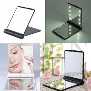 Невероятно добно LED огледалце, двустранно. Спасява те във всяка ситуация