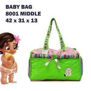 Бебешка чанта GREEN COMPACT за пелени, дрехи и аксесоари с ПОДАРЪК подложка за преповиване