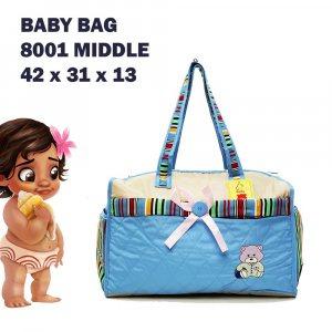 Бебешка чанта BLUE COMPACT за пелени, дрехи и аксесоари с ПОДАРЪК подложка за преповиване