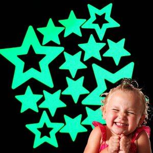 Фосфоресциращи звездички украса за детска стая