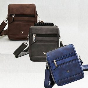 Мъжка чанта STRONG 8618, еко кожа, синя, сива или кафява