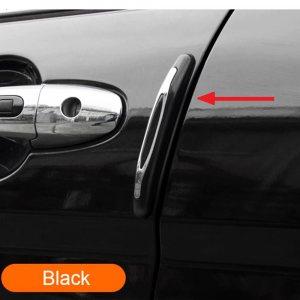 Предпазители за врата на автомобил, ЧЕРЕН полимерен силион, 2 бр.
