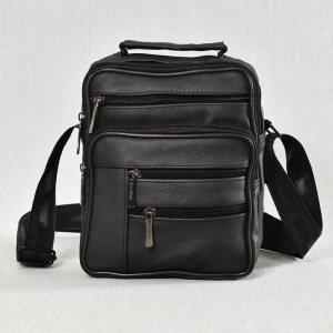 Мъжка чанта ЕСТЕСТВЕНА кожа - практична и удобна, 0511