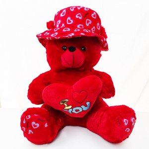 Гигантски червен плюшен мечок I LOVE YOU RED BEAR, висок 65 см