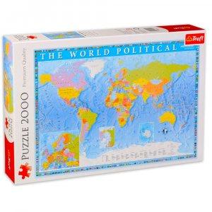 Пъзел 2000 части политическа карта на света Trefl