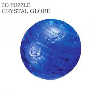 Готин прозрачен 3D пъзел СИН ГЛОБУС, 40 парчета