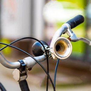 Автентичен винтидж  клаксон за велосипед с помпичка