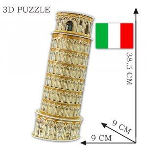 Сглобяем 3D пъзел КУЛАТА В ПИЗА, без нужда от ножица и лепило
