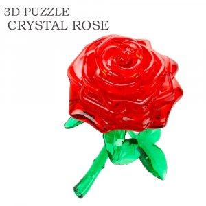 Романтичен подарък - кристален 3D пъзел РОЗА, 44 парчета