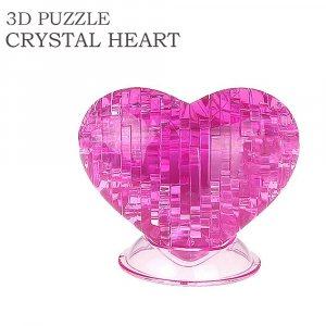 Романтичен подарък - кристален 3D пъзел СЪРЦЕ, 46 парчета