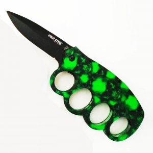 Сгъваем колекционерски нож тип бокс COLD STEEL 219 GREEN